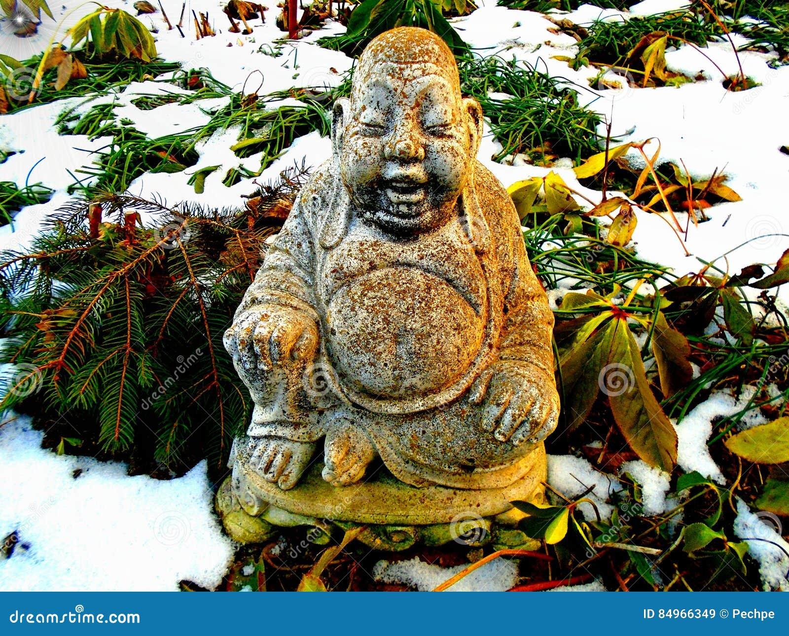 Budha in de winter
