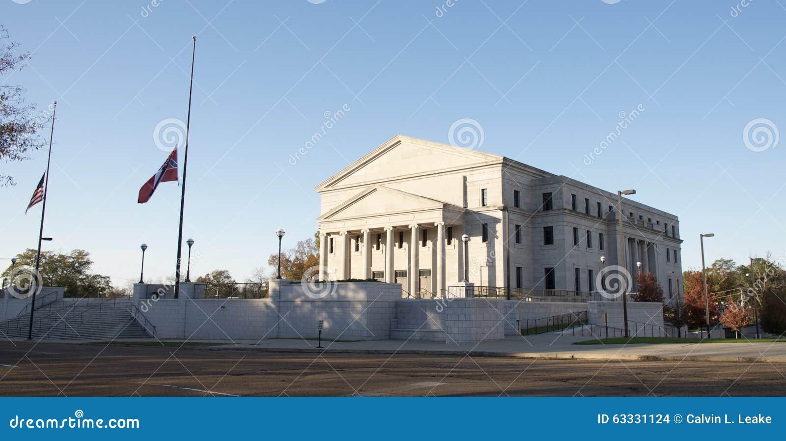 Budować blisko Mississippi stanu Capitol budynku