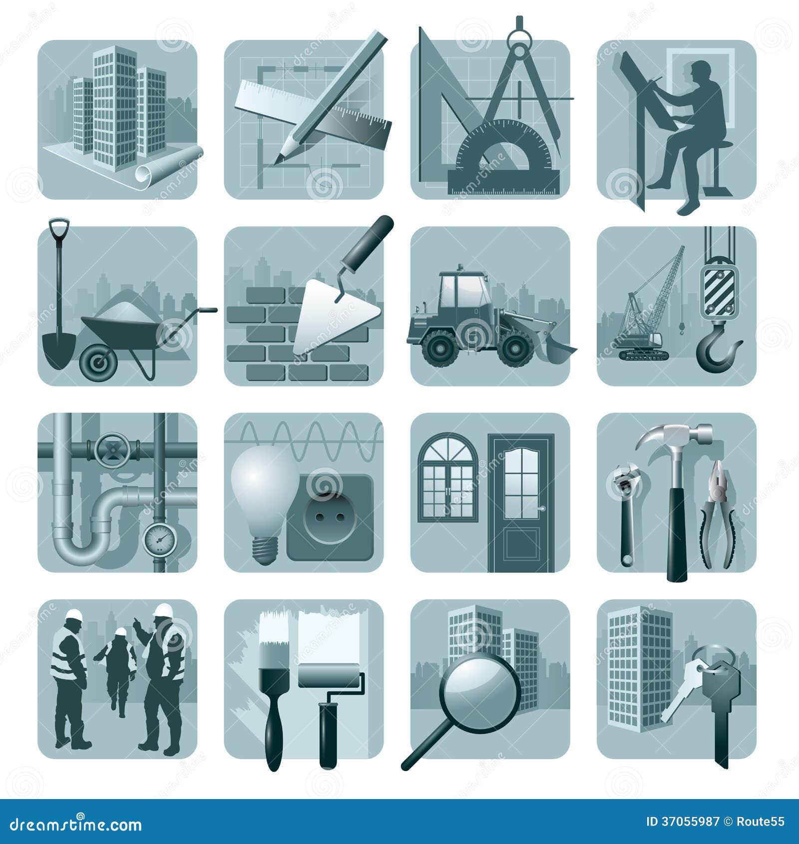 Budowy & architektury ikony