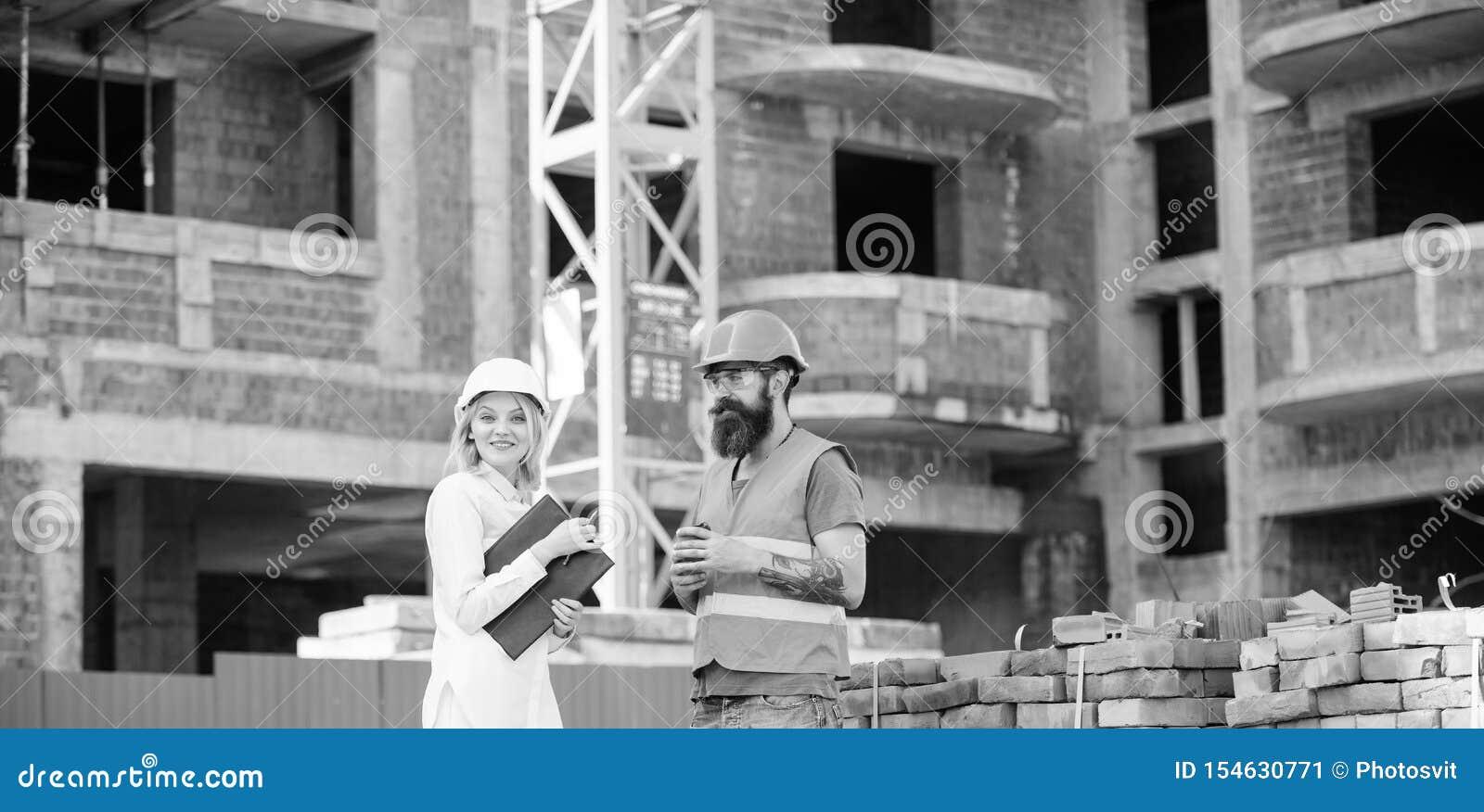 Budowy dru?ynowy komunikacyjny poj?cie Zwi?zki mi?dzy budowa klientami i uczestnika budynku przemys?em