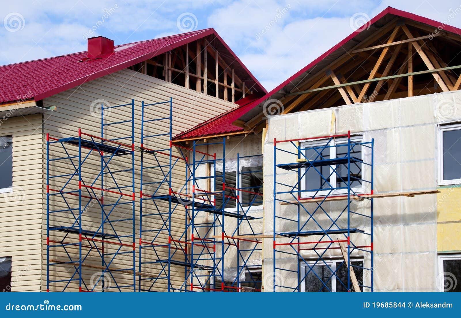 Budowy fasady dom