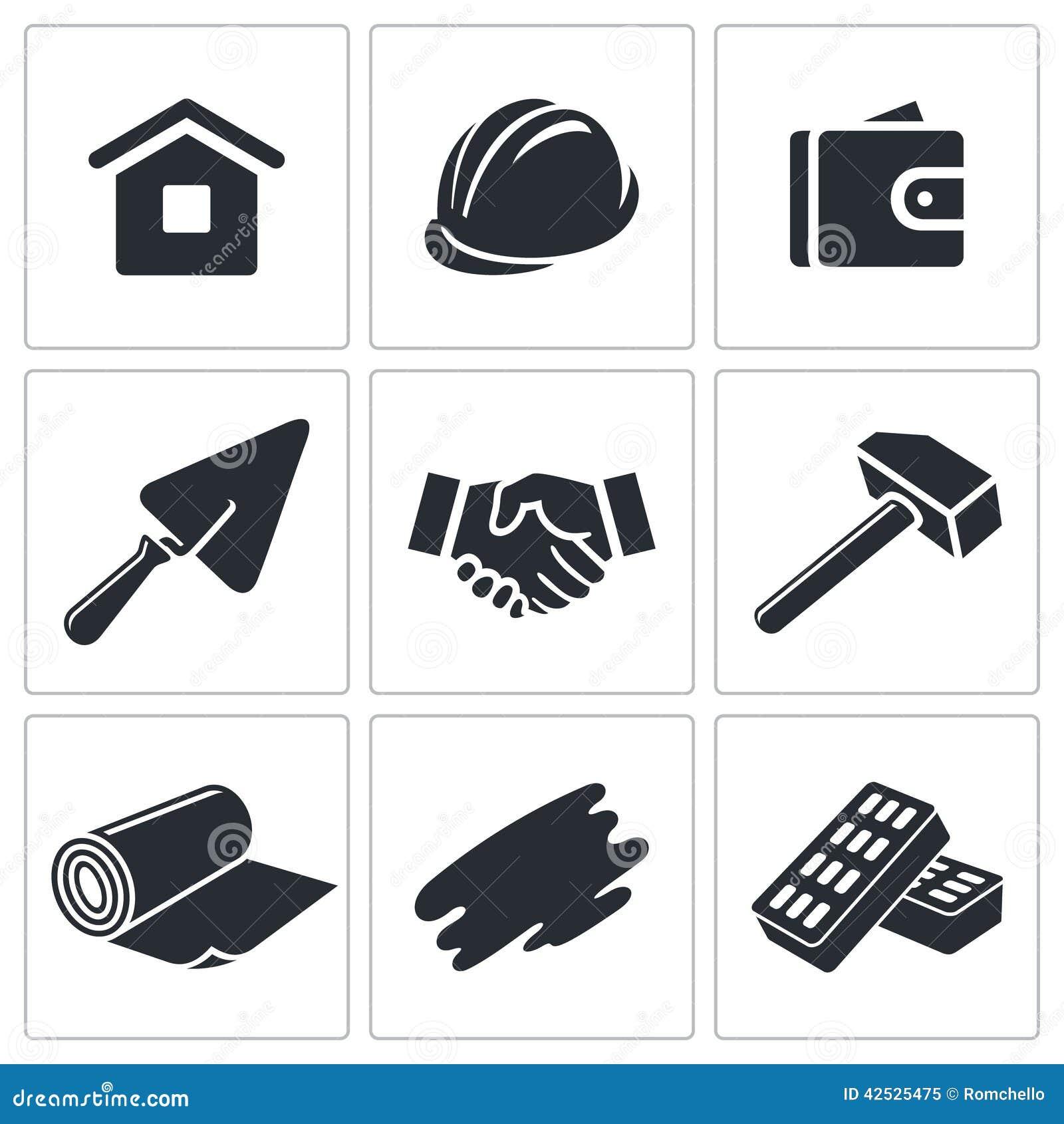 Budowy i domu ikony remontowa kolekcja
