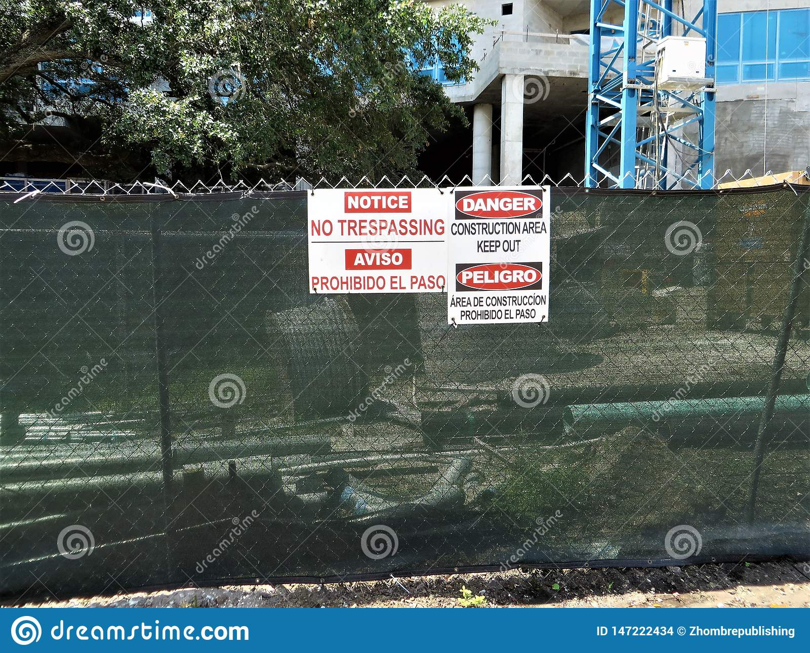 Budowy ogrodzenie, Tampa, Floryda