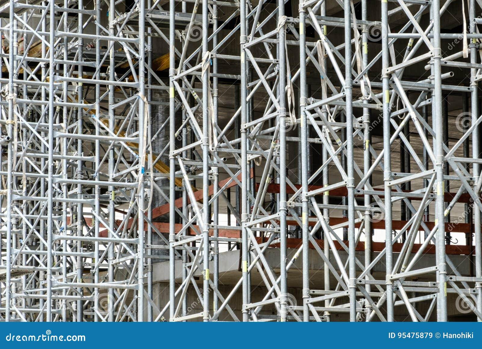 Budowy struktura, rusztowania tło/