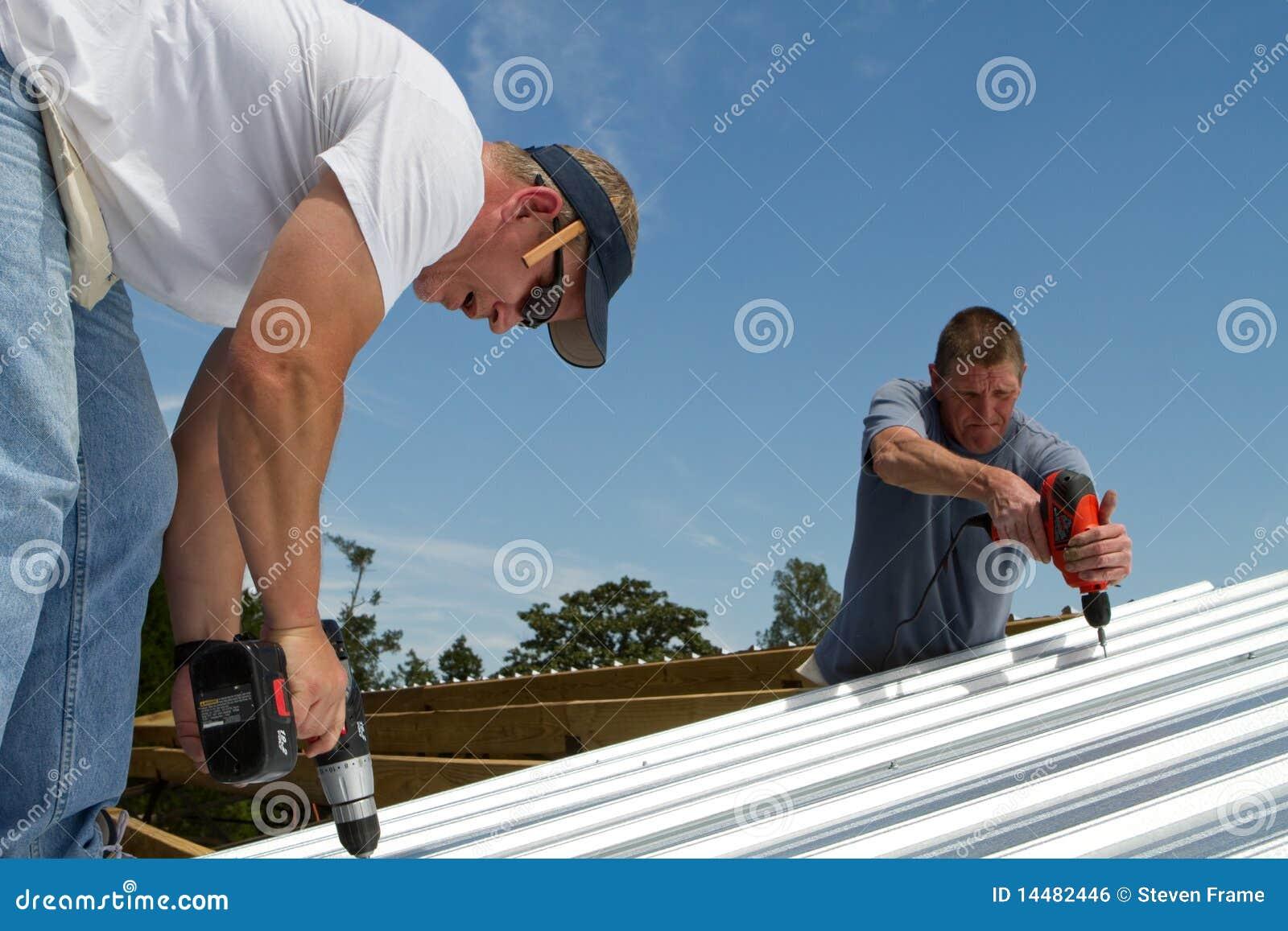 Budowy załoga dekarstwo