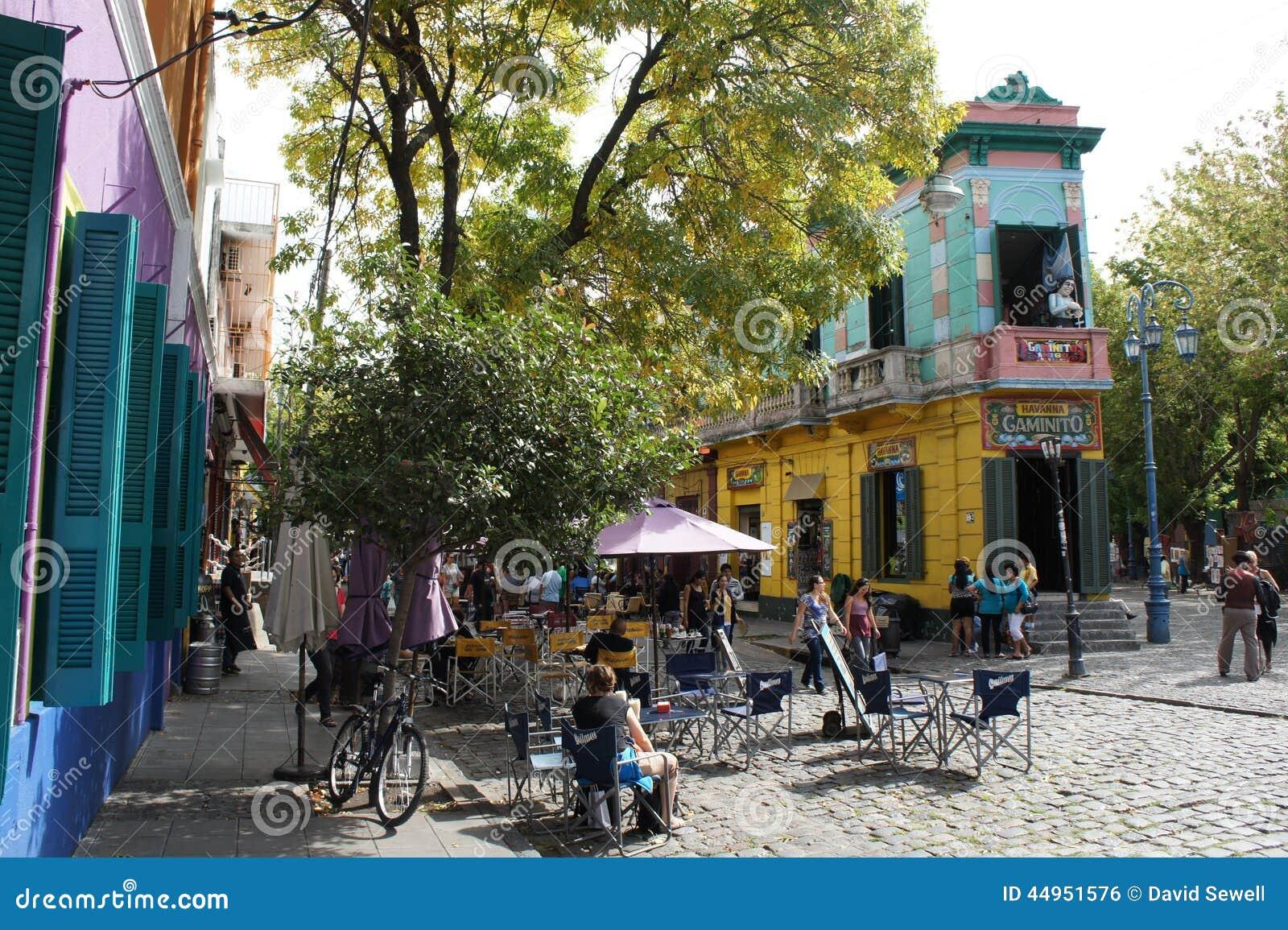 Budujący w Caminito, los angeles Boca, Buenos Aires