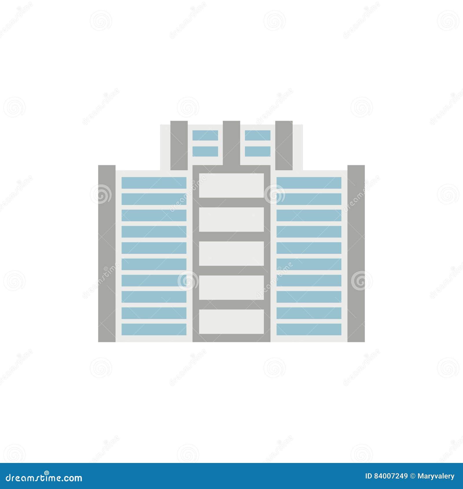 Budynek biurowy odizolowywający miasto architektury znak Biznesowy struc