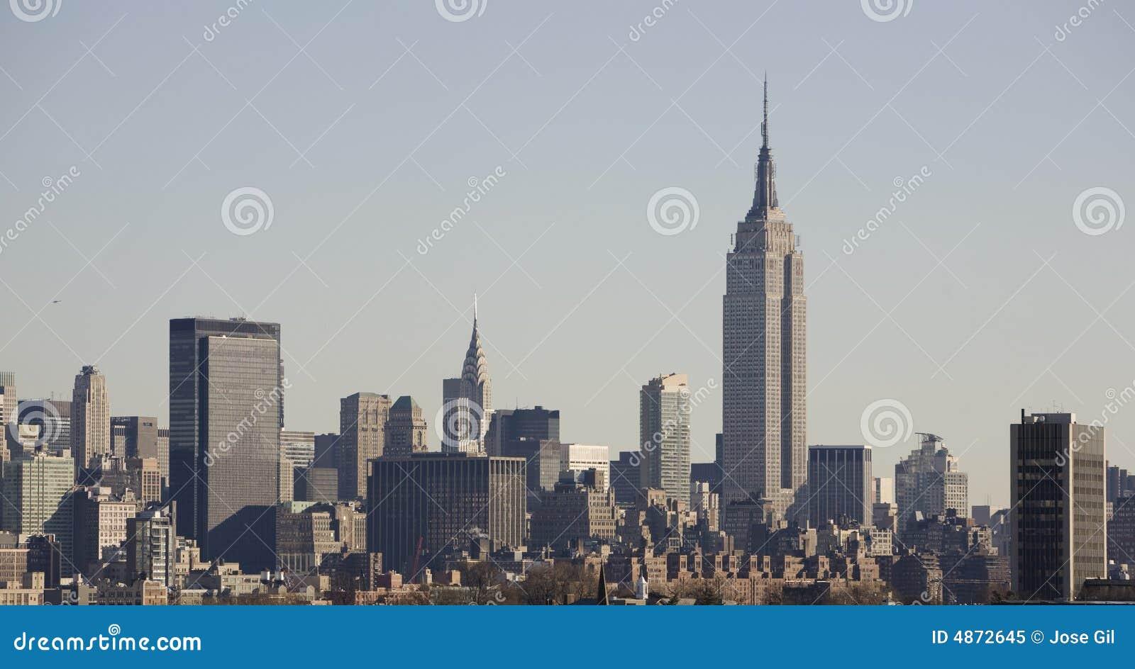 Budynek imperium skyline nowy York państwa