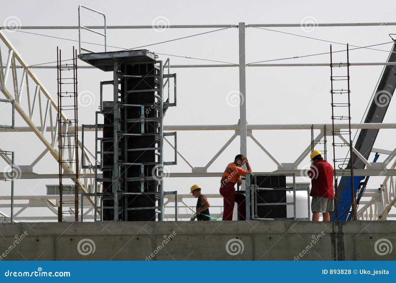 Budynek korporacji budowy pracowników