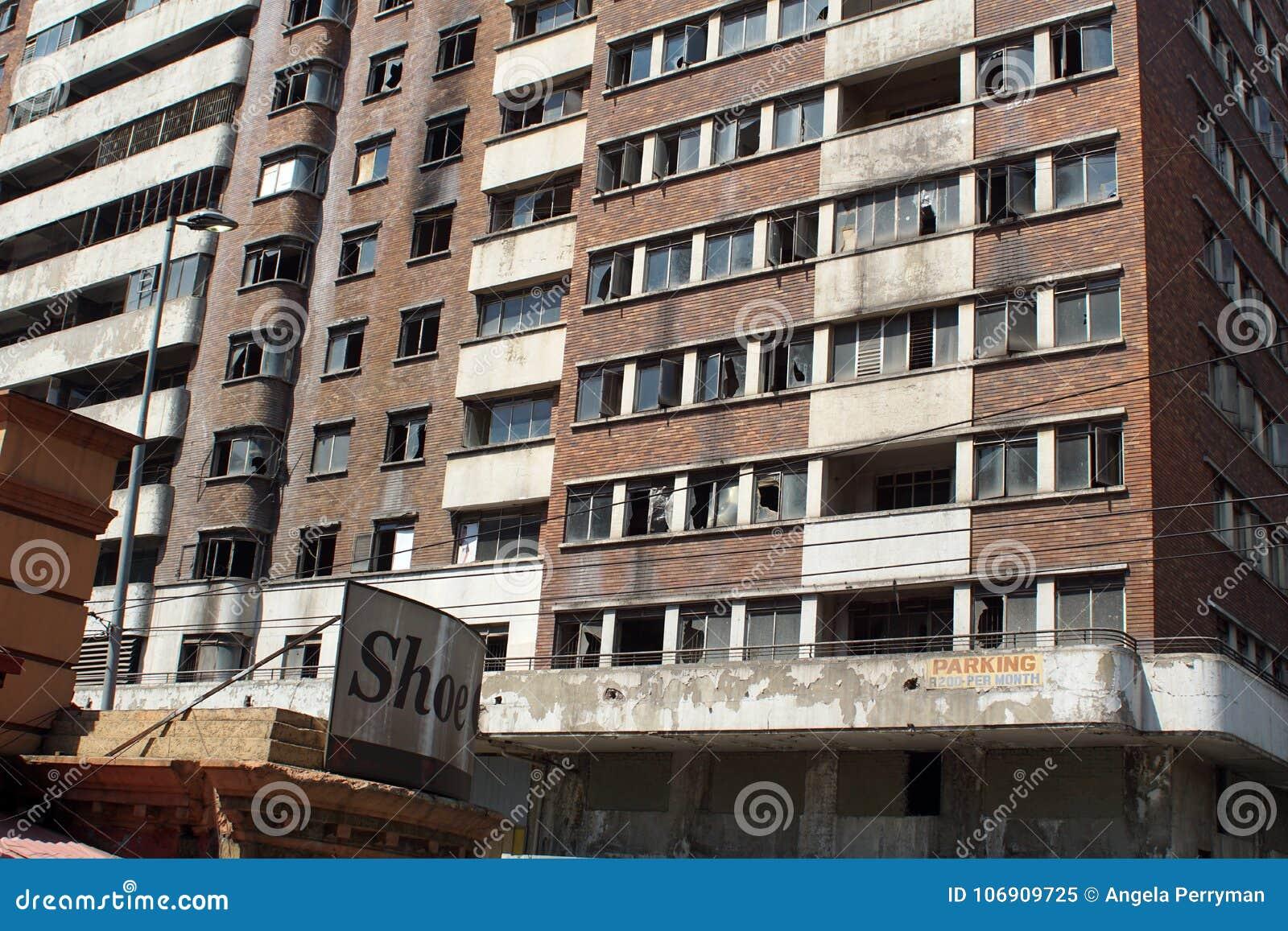 Budynek mieszkaniowy w Środkowej dzielnicie biznesu, Johannesburg, Południowa Afryka