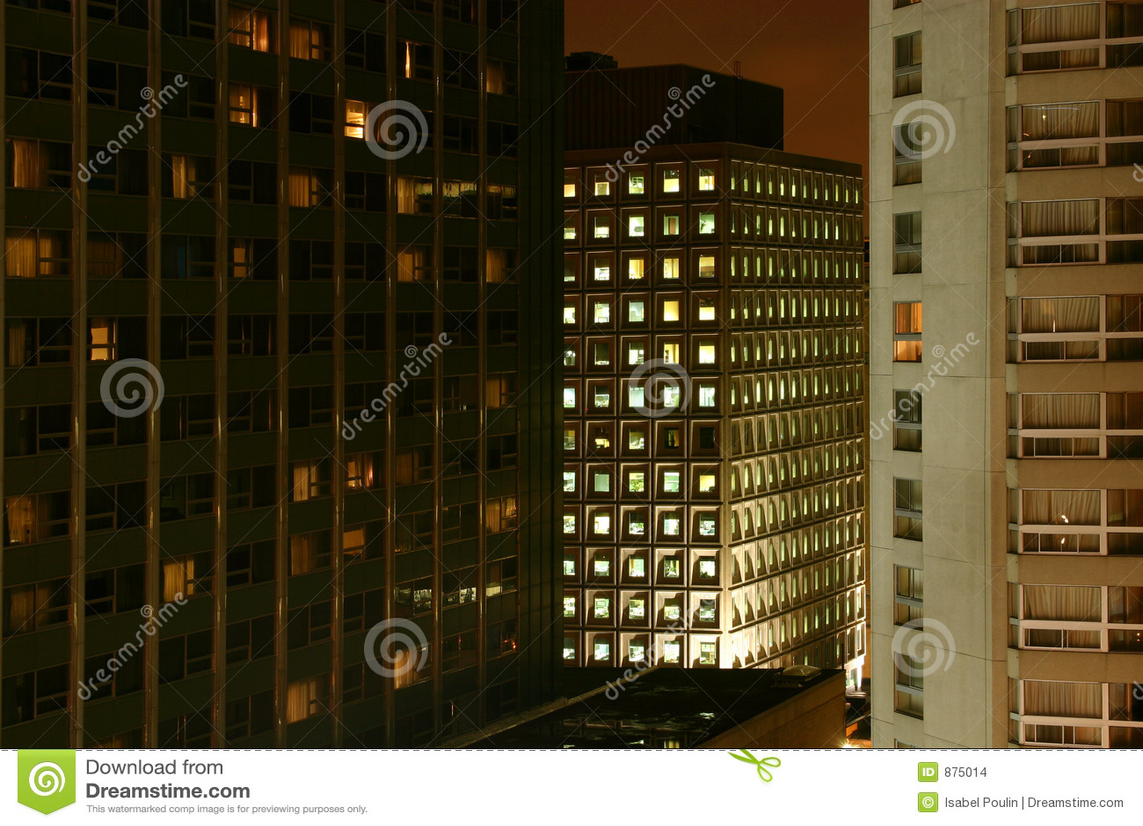 Budynek noc