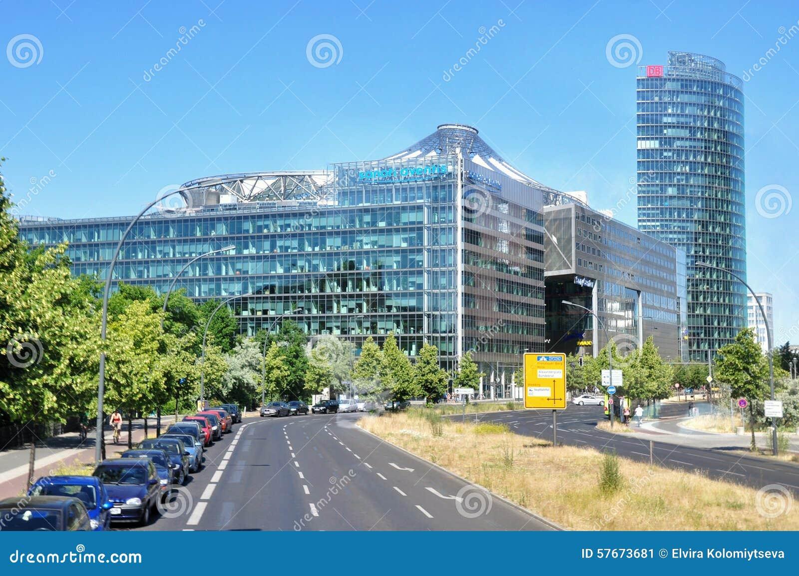 Budynki nowoczesnych berlin