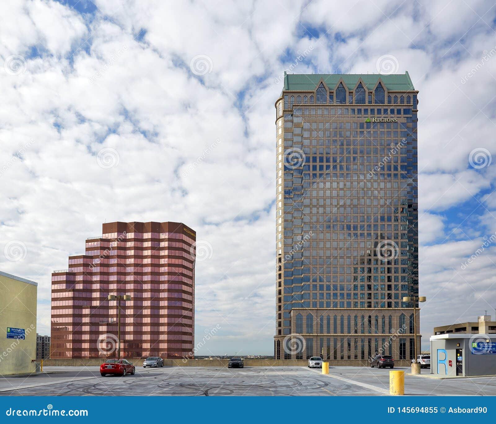 Budynki w W centrum Tampa, Floryda