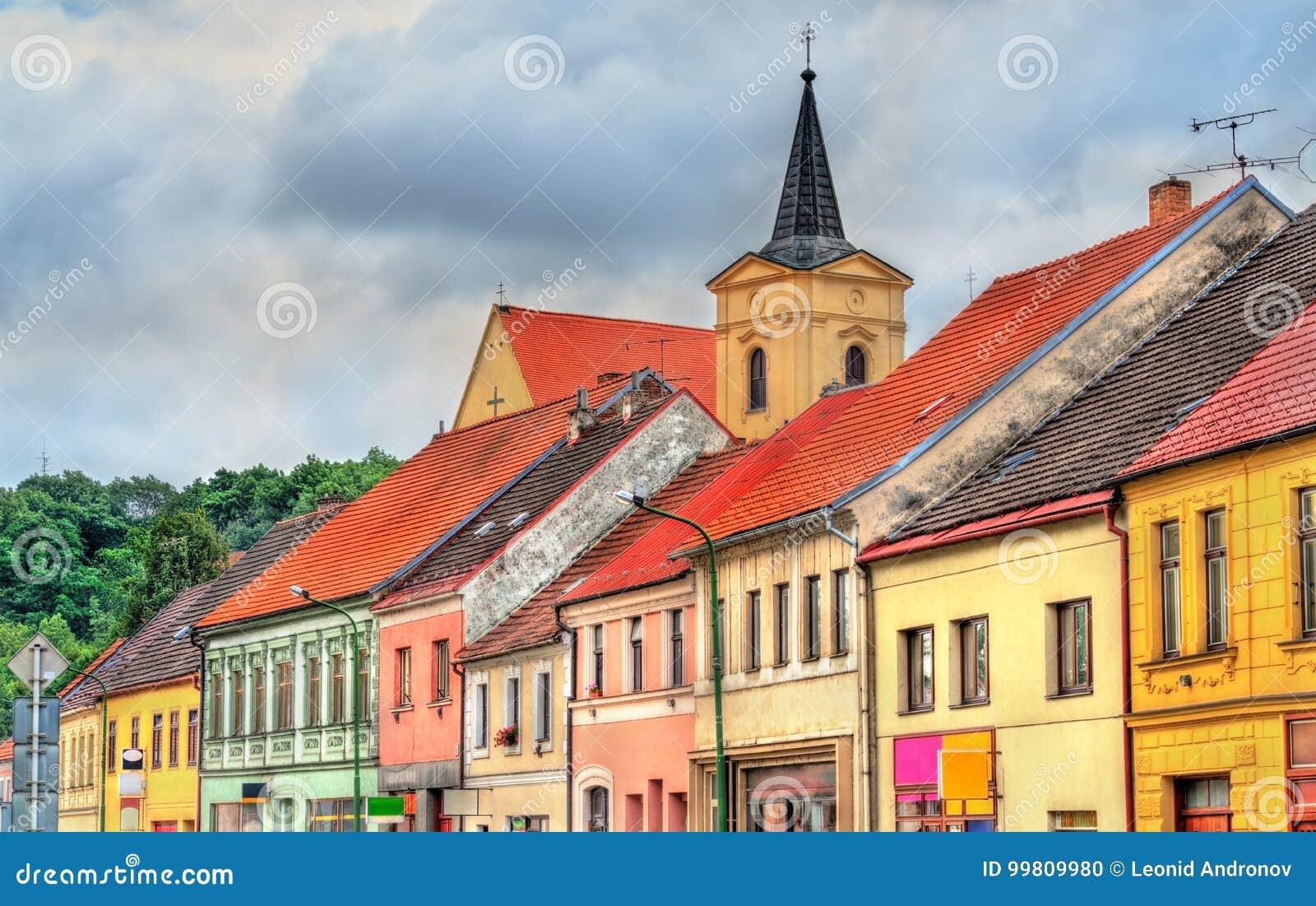 Budynki w starym miasteczku Trebic, republika czech