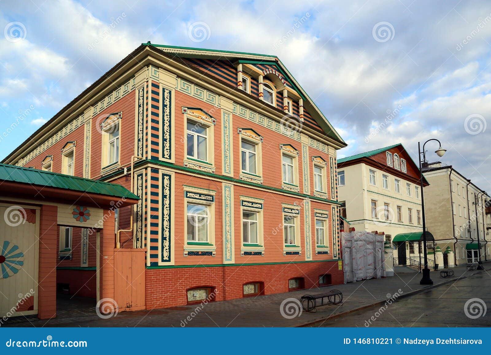 Budynki XIX wiek w historycznym okręgu miasto Tatar Sloboda
