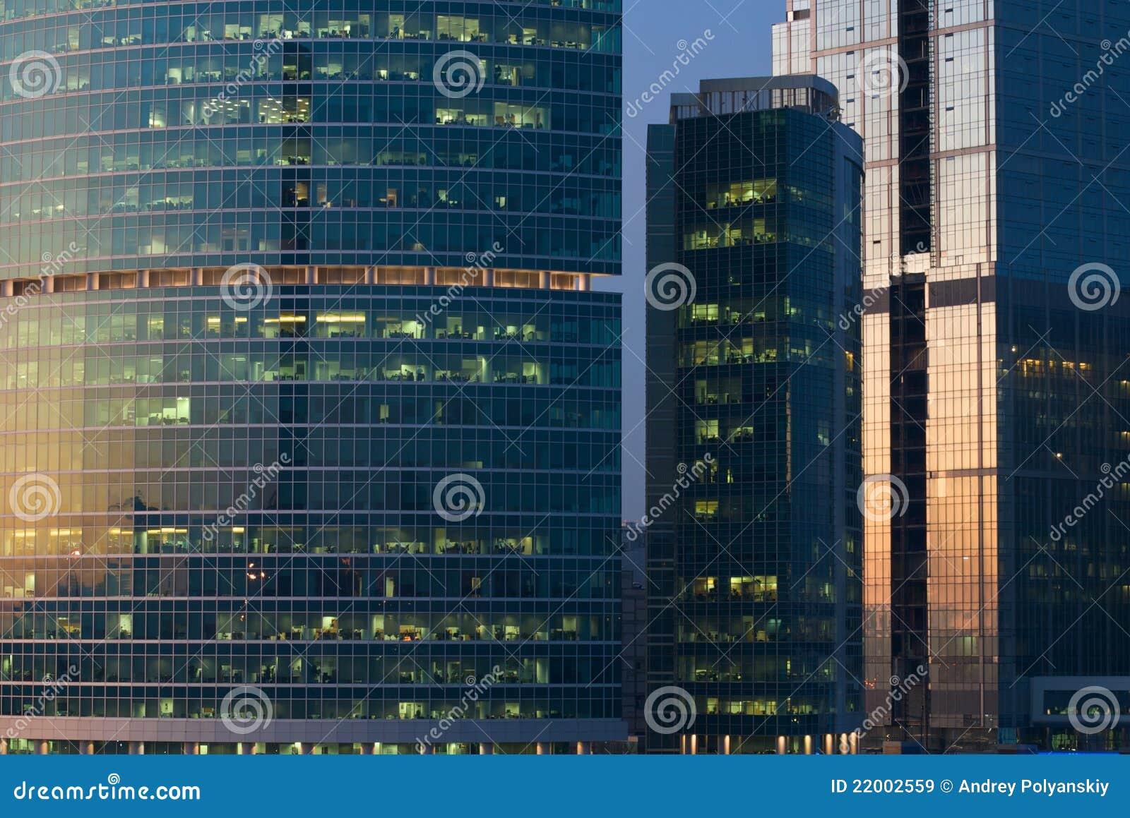 Budynku biura okno