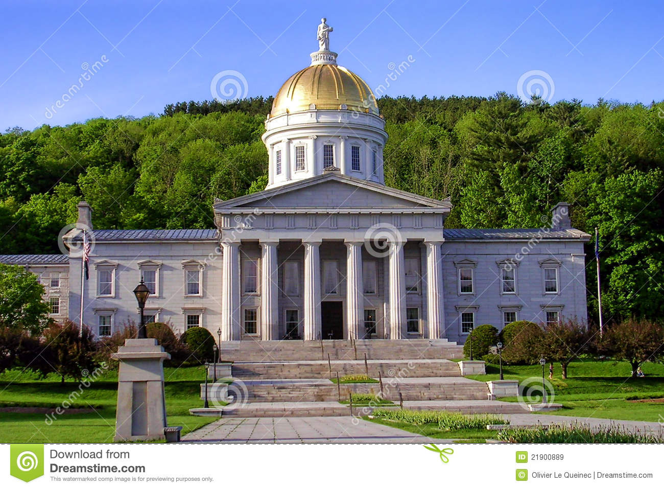 Budynku capitol Montpelier stan Vermont
