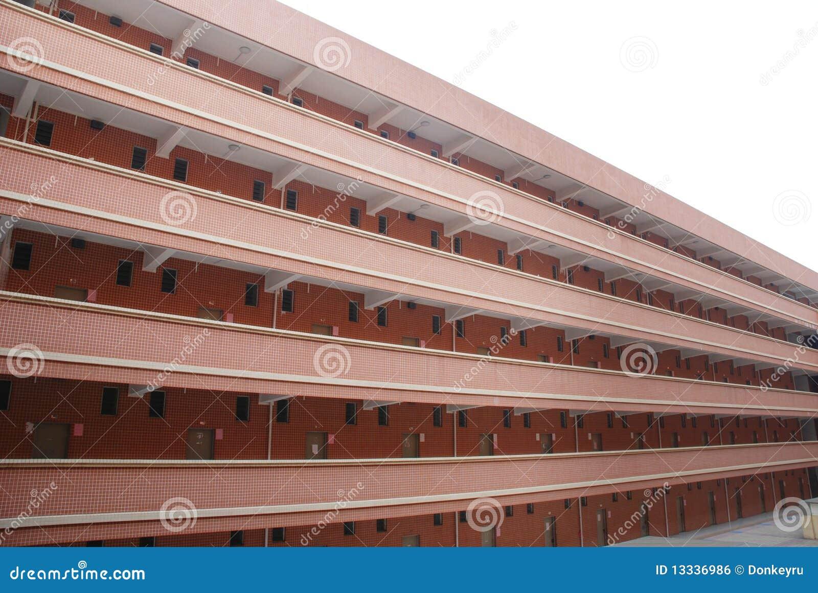 Budynku dormitorium szkoła