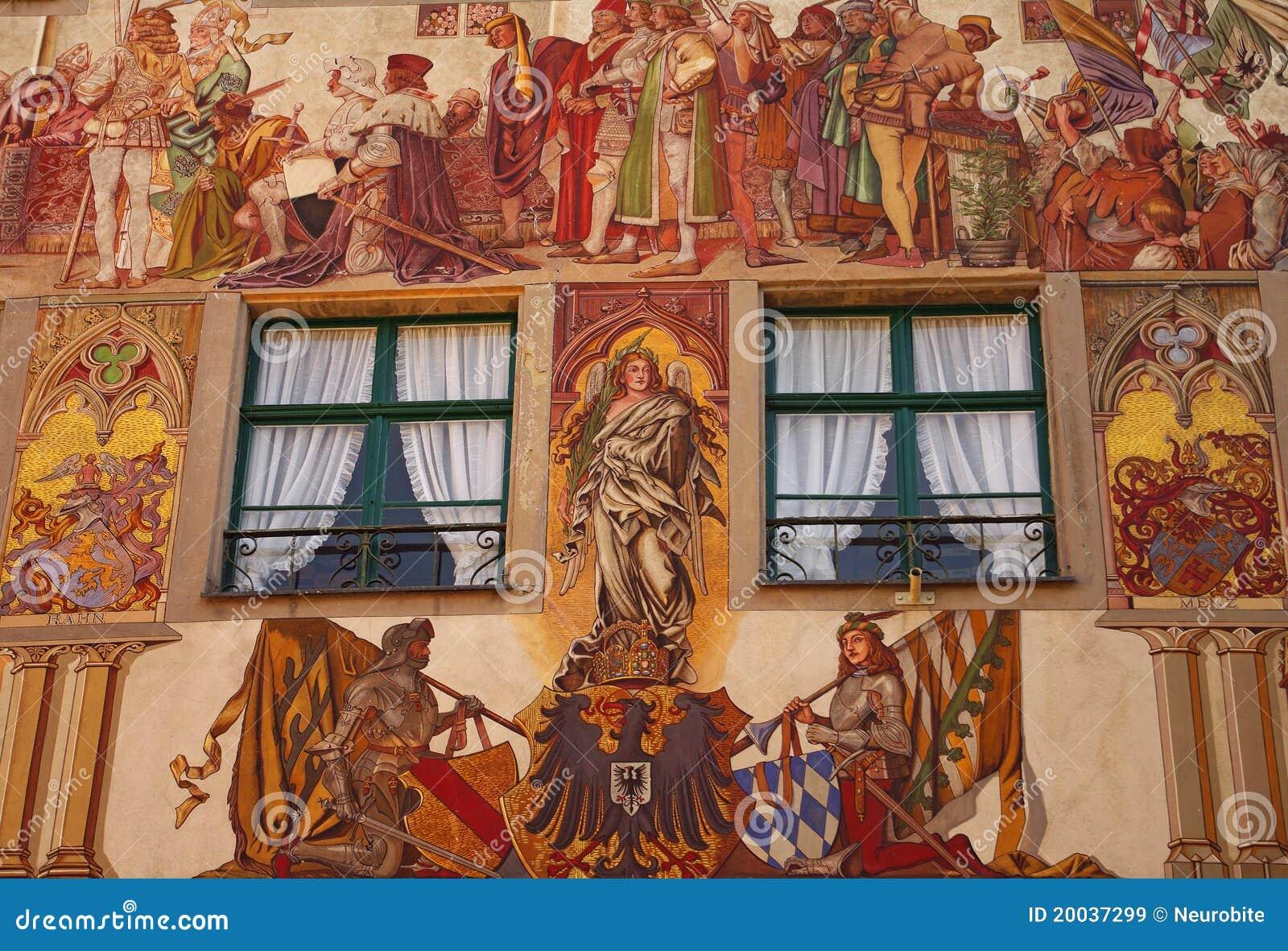 Budynku fasadowy Konstanz średniowieczny malujący