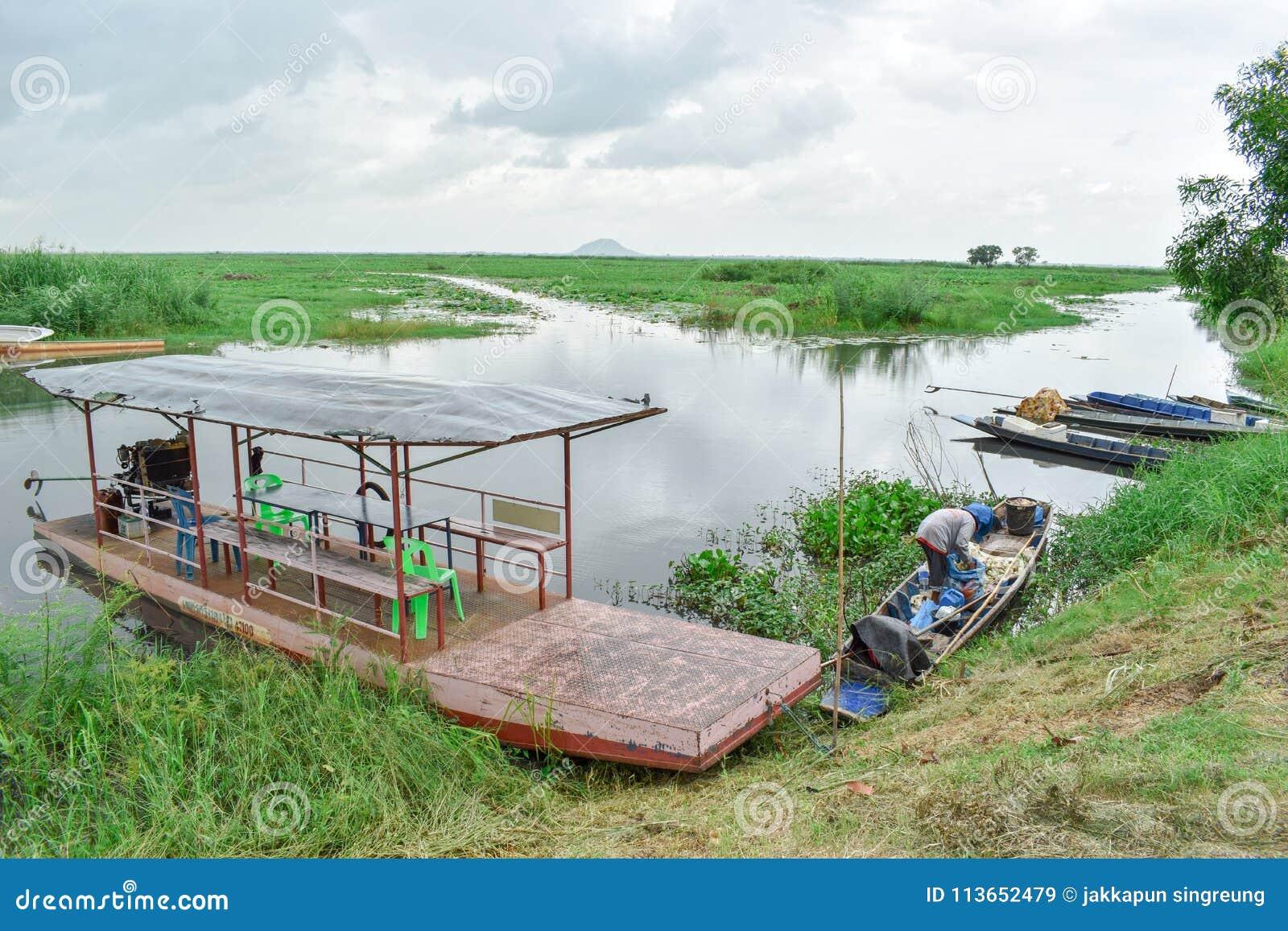 Bueng Borpit Park Nakhon Sawan , Thailand Editorial Stock