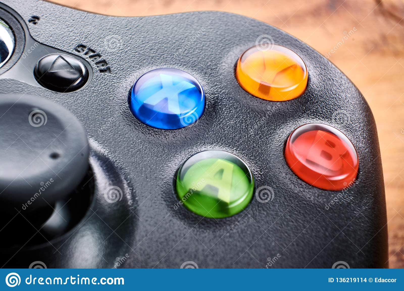 new arrival 7c0ae 21397 Closeup Of Gamepad On Table Editorial Stock Image - Image of ...
