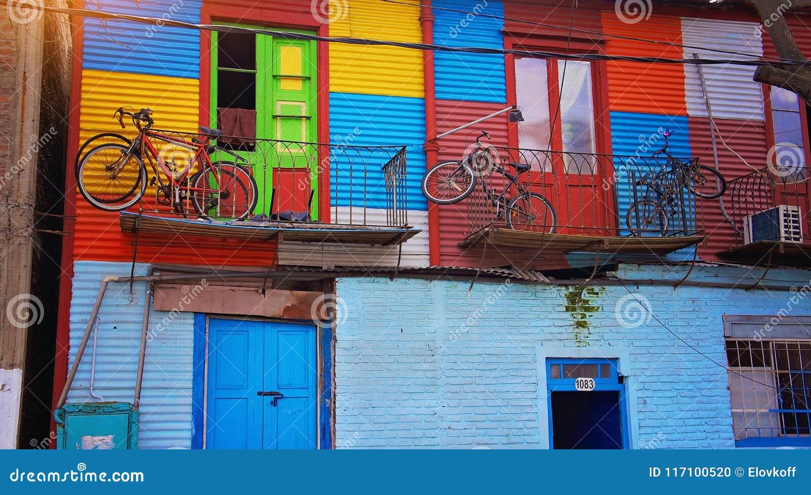 Buenos Aires, distrito do EL Caminito do marco