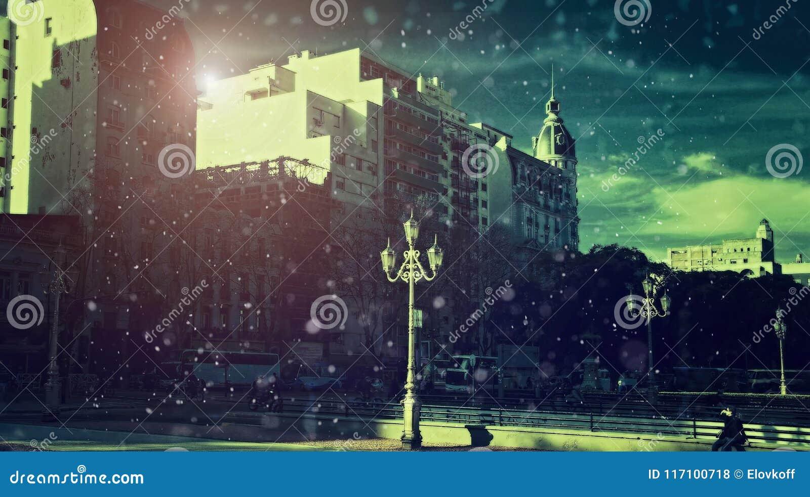 Buenos Aires, plaza del congreso nacional