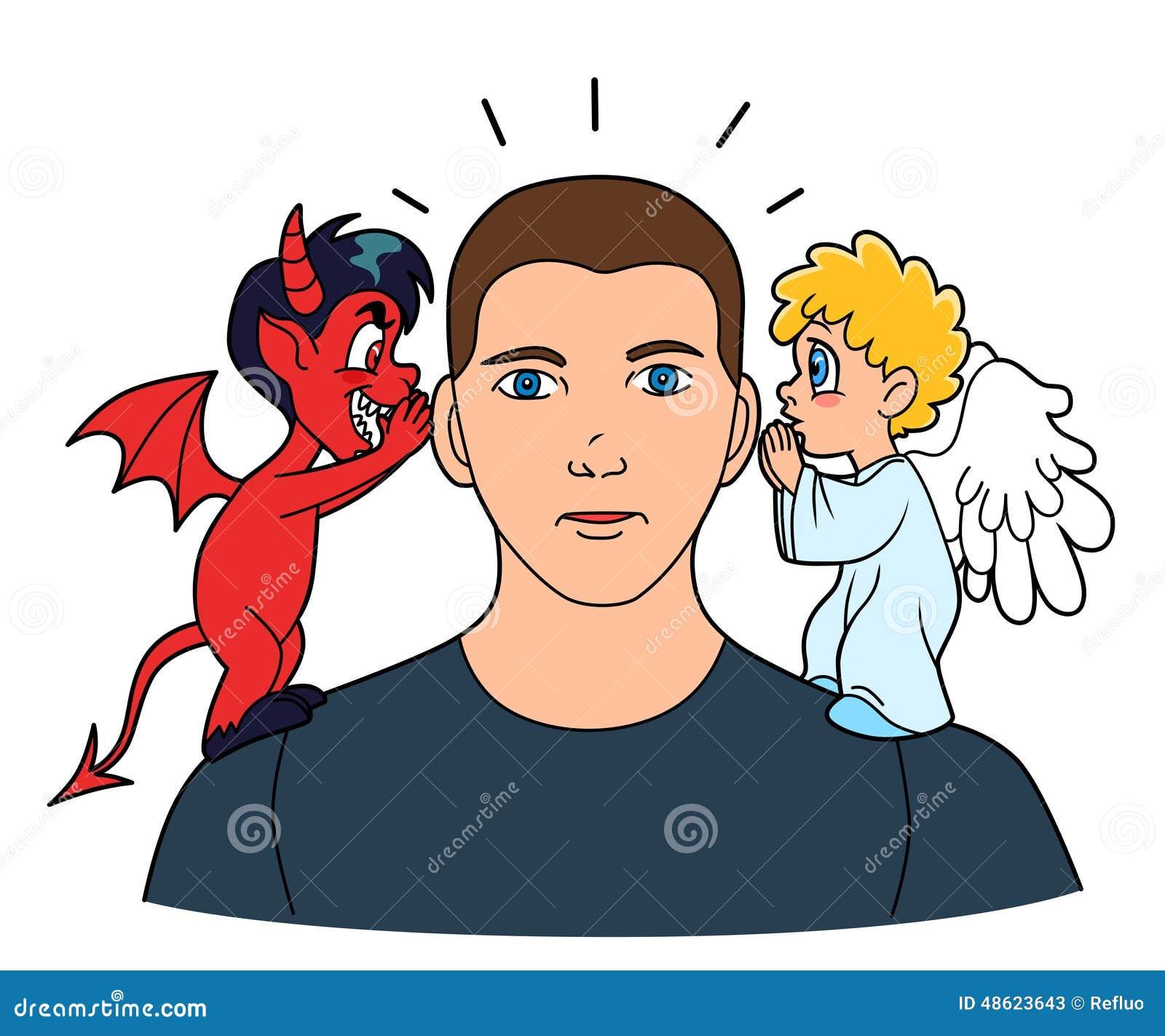 Sirva escuchar los buenos y malos consejos de su pequeños ángel y