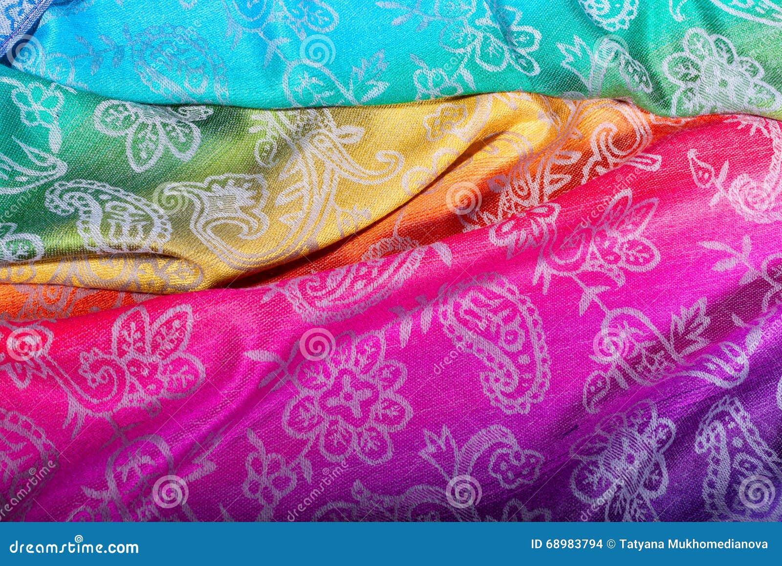 Bufanda brillante hermosa Mercancías de la India