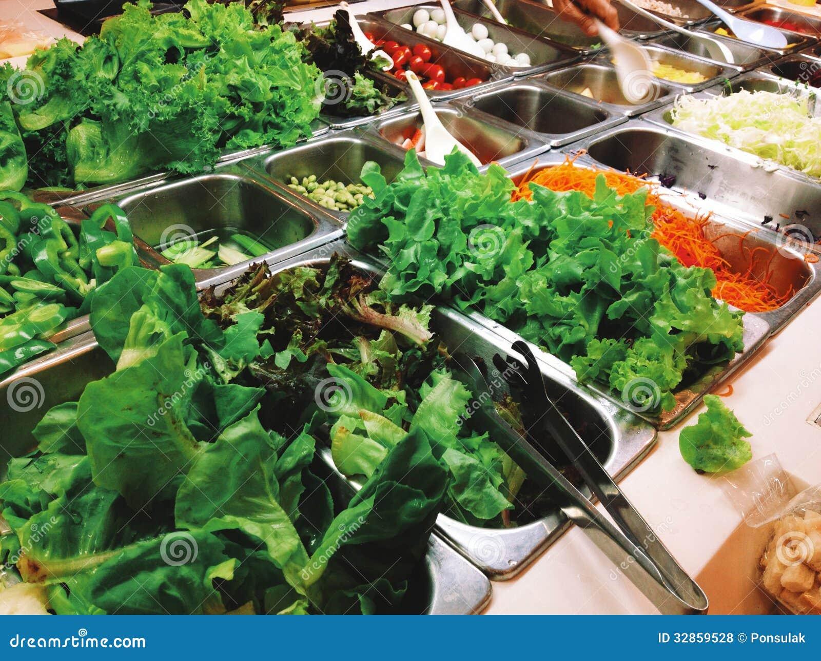 Bufete da salada, alimento do vegetariano
