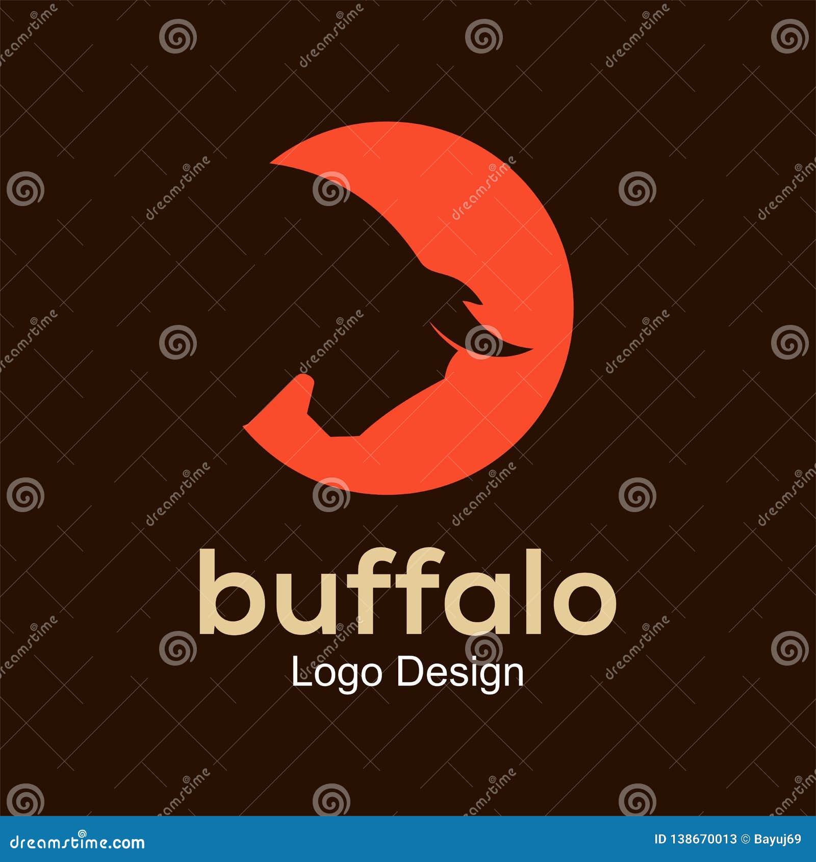 Buffalo - vector logo template design element