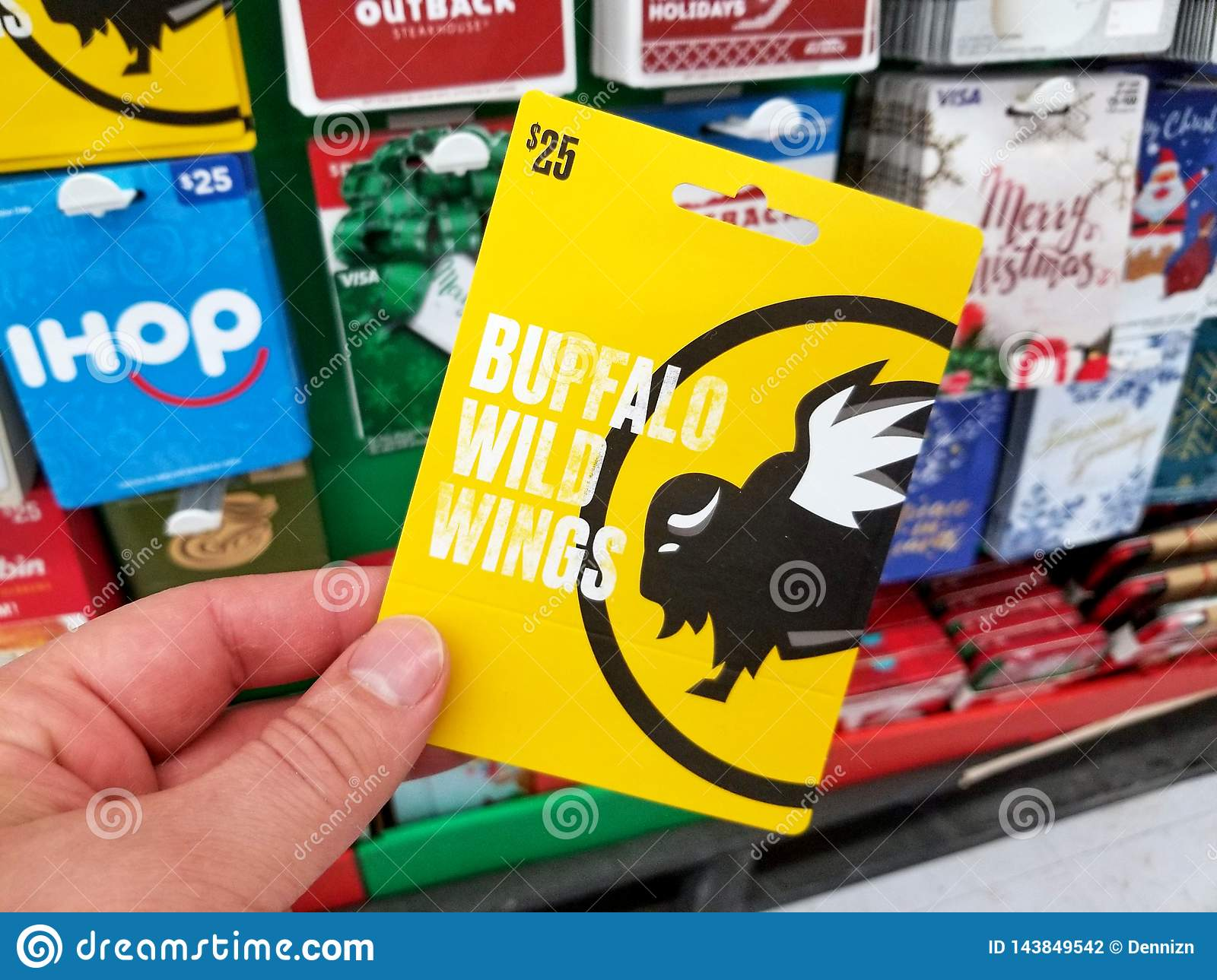 new arrivals c6424 8dc06 Buffalo Wild Wings Gift Card In A Hand Editorial Photography ...