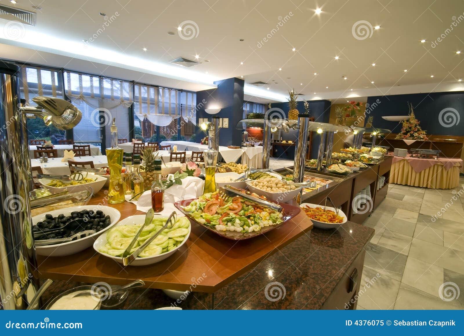 Buffet In Esszimmer Des Hotels Stockbild Bild Von Wahl Verziert