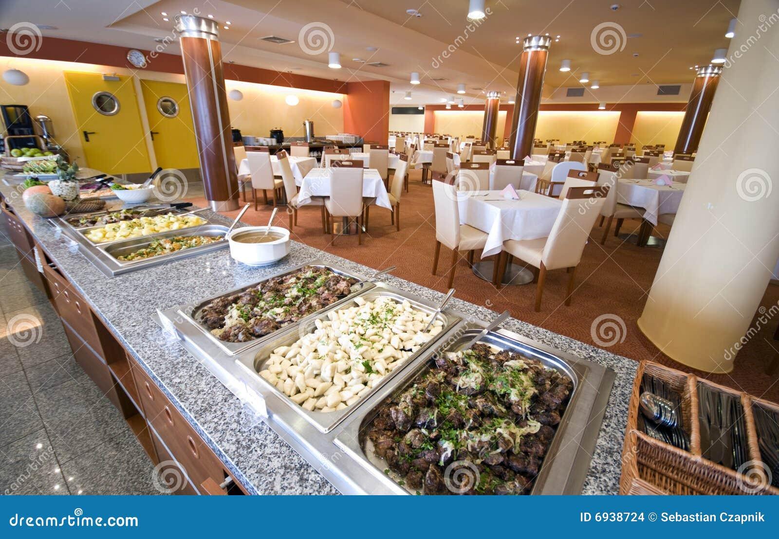 Buffet In Esszimmer Des Hotels Stockfoto Bild Von Buffet Lots