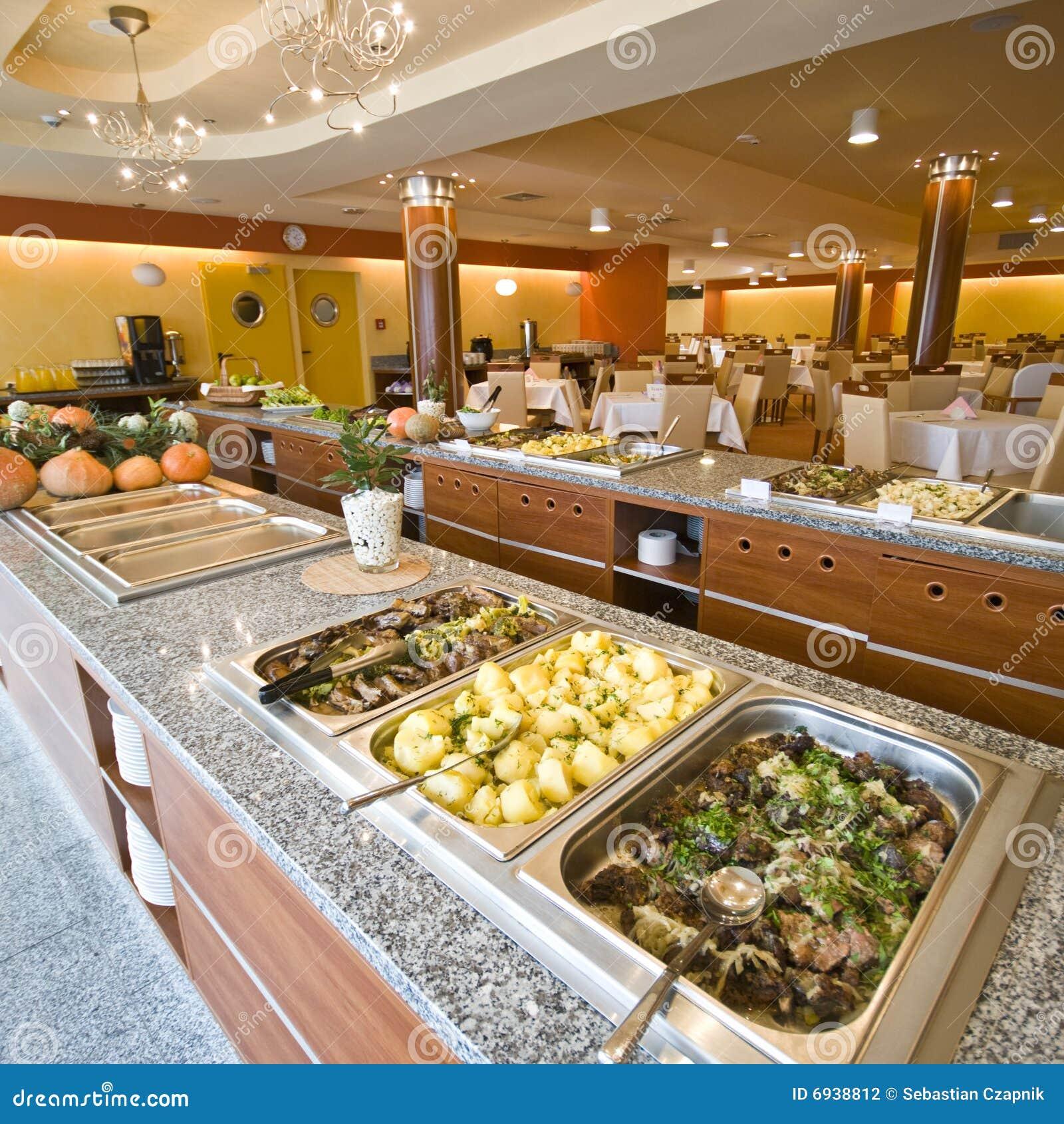 Buffet In Esszimmer Des Hotels Stockfoto Bild Von Mahlzeiten