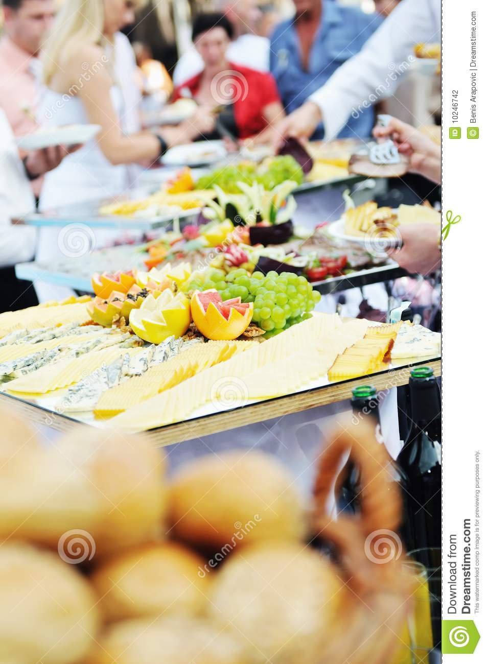 Buffet Food People Stock Photo Image Of Business Lunch