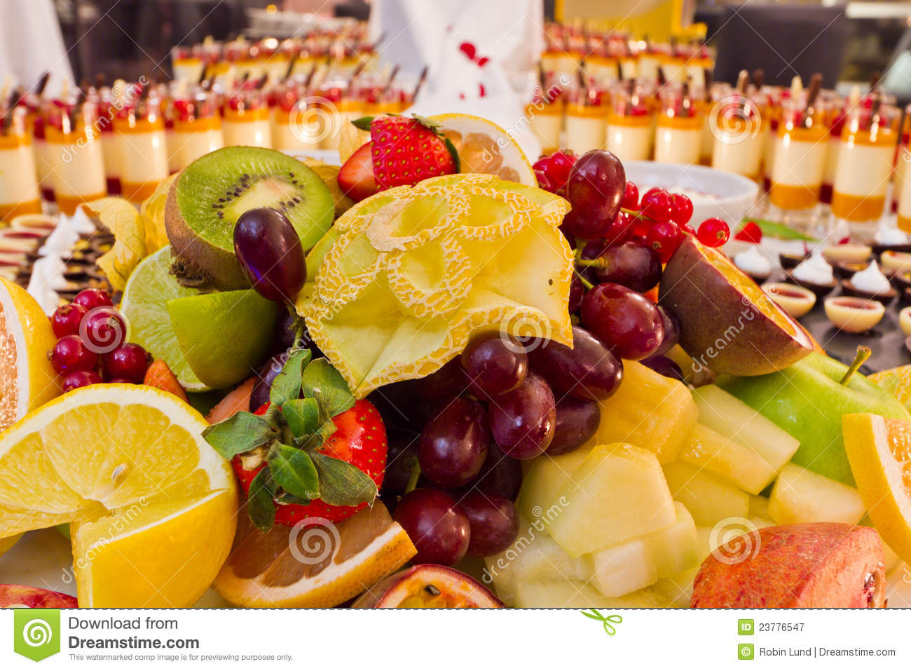 Buffet Fruit Dessert Royalty Free Stock Photography - Image: 23776547