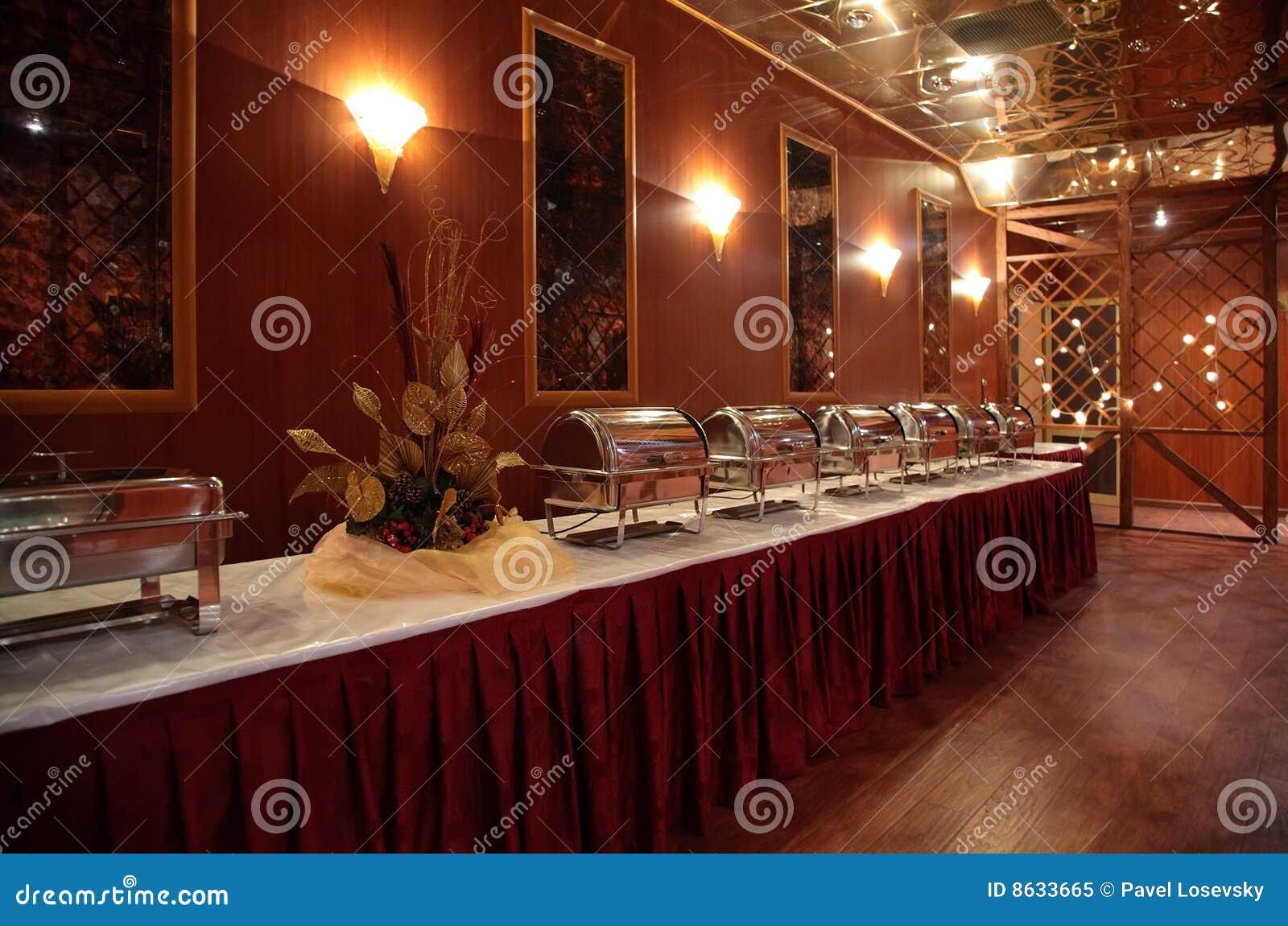 Buffet in hotel