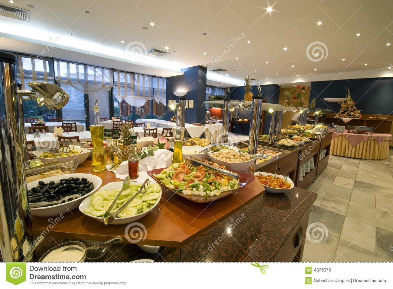 Buffet In Hotel Dining Room Royalty Free Stock Photo Image 4376075
