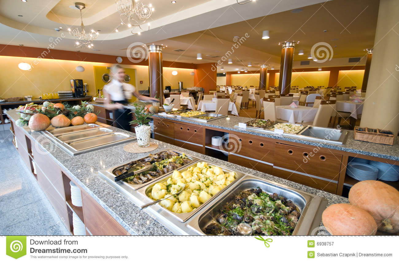 Buffet In Hotel Dining Room Stock Image Image 6938757