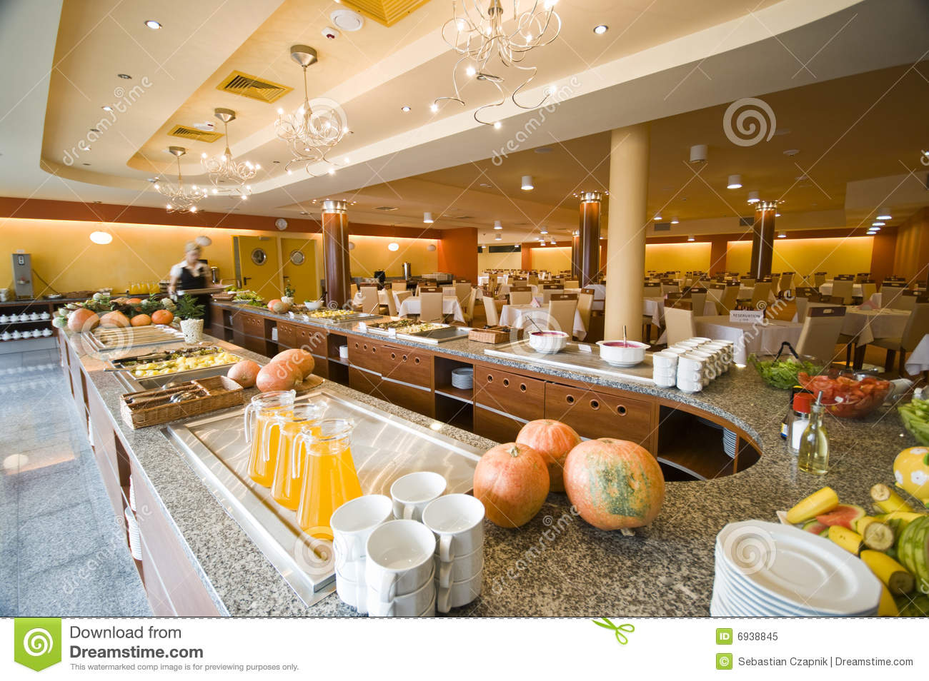 Buffet In Hotel Dining Room Stock Image Image Of Drinks Hall 6938845