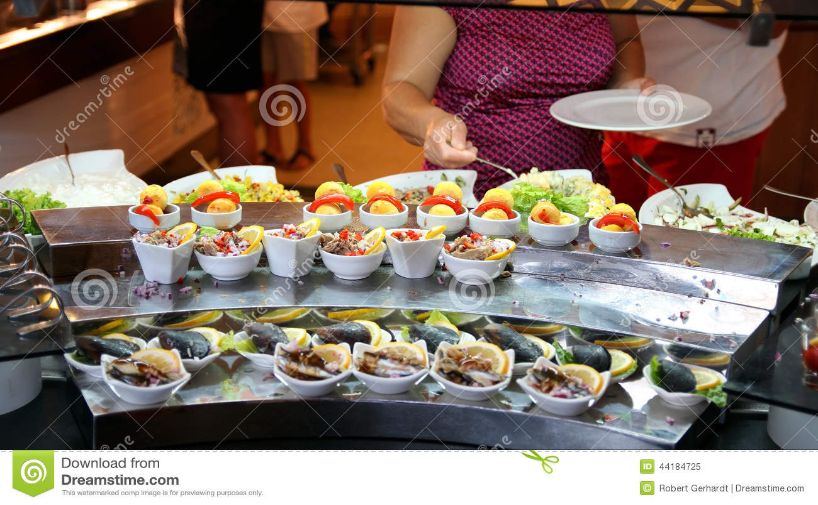 Buffet Self Service Food Display Stock Photo 44184725 Megapixl