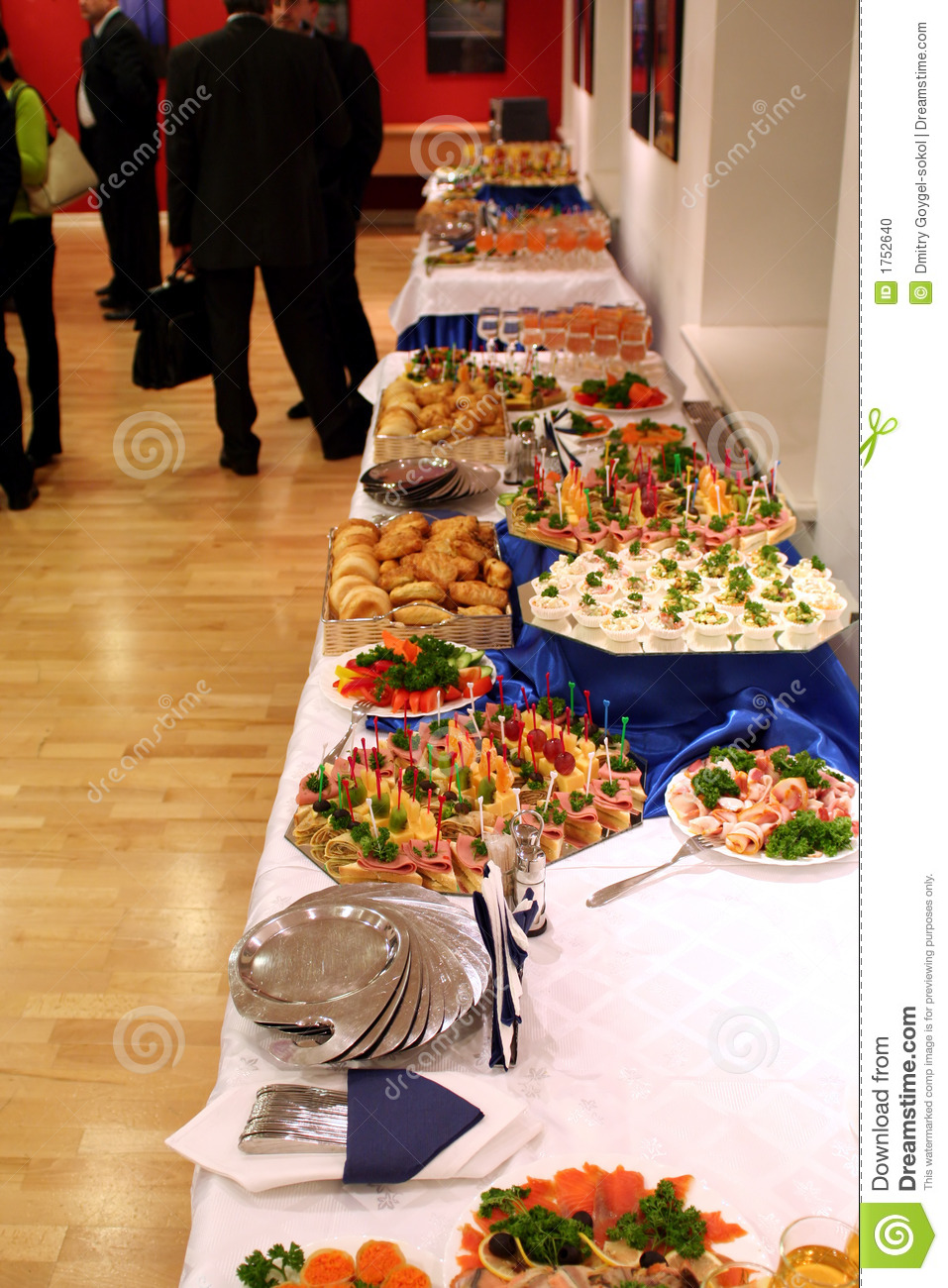 Buffet with snacks at presentation 1 stock photo image - Presentation buffet froid deco ...