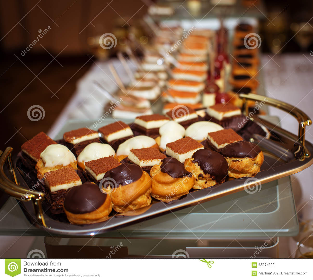 Buffet table with dessert
