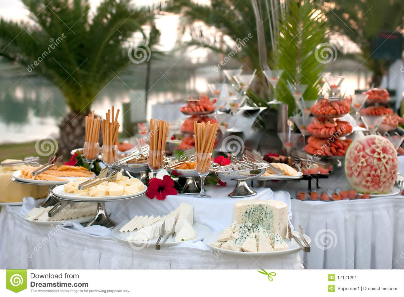 Buffet Table With Seafood Stock Image Image Of Dish 17171291