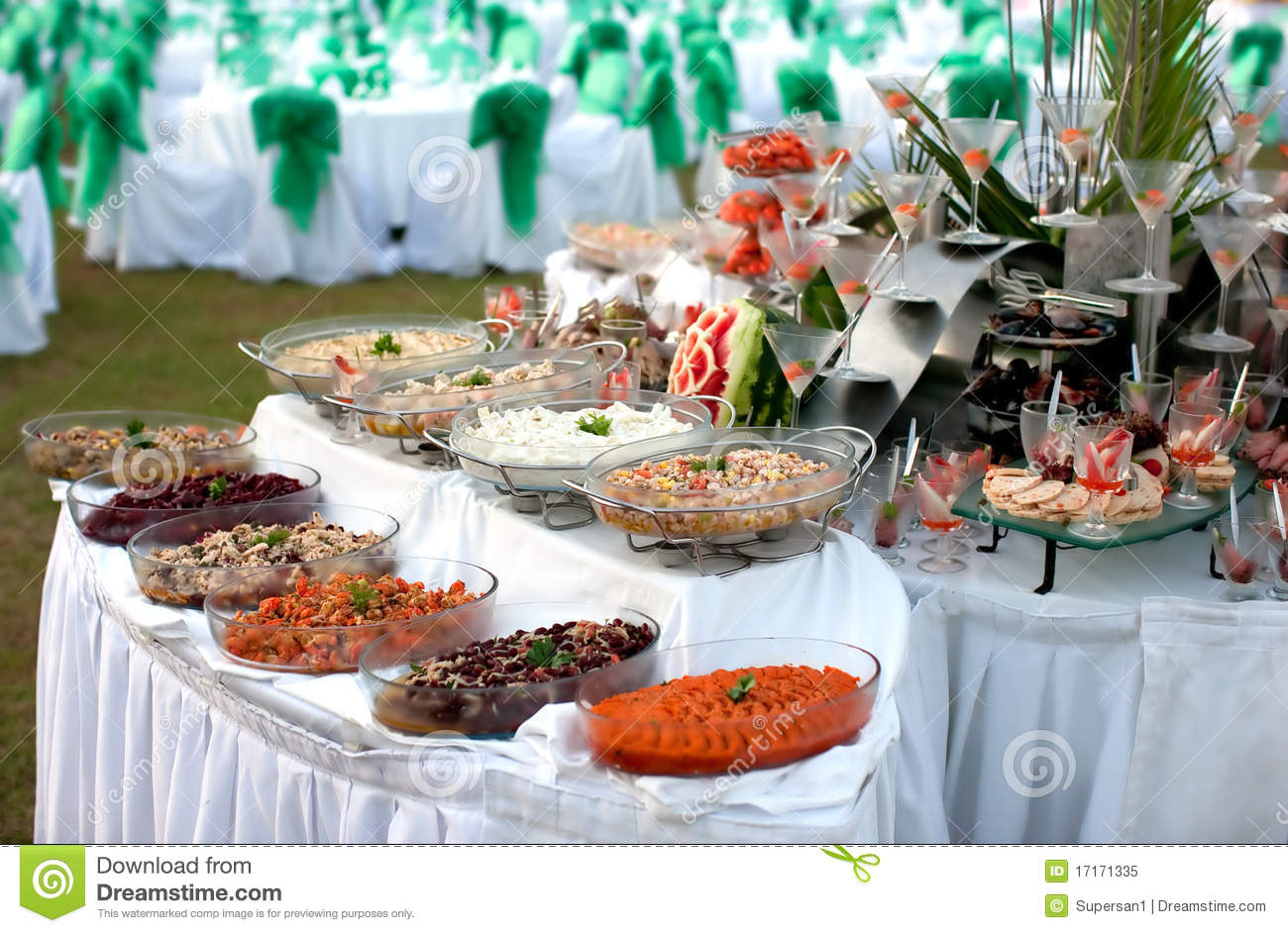 Buffet Table With Seafood Stock Image Of Dinner