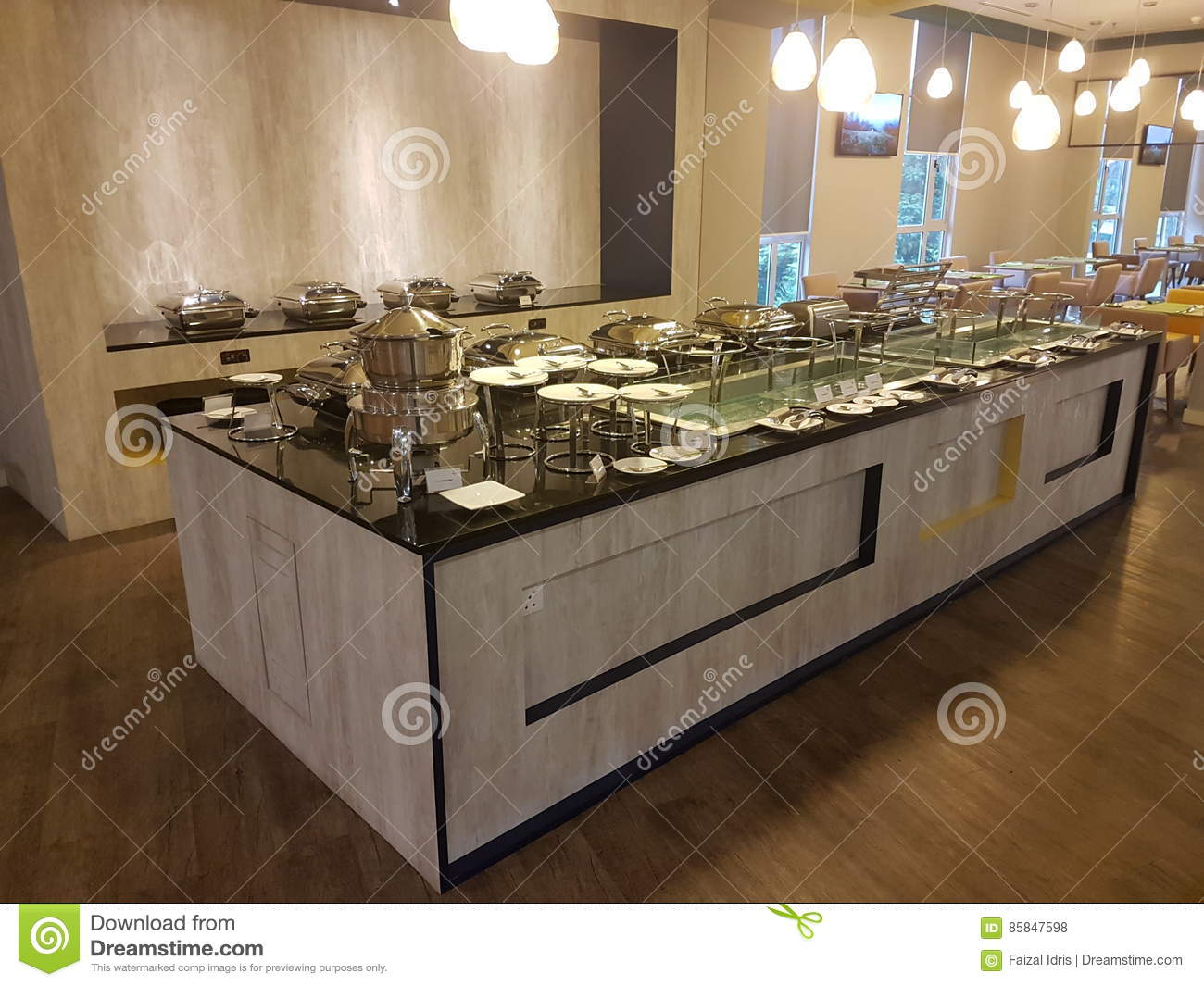 Buffet Table Set Up Editorial Stock Photo Image Of Flooring 85847598