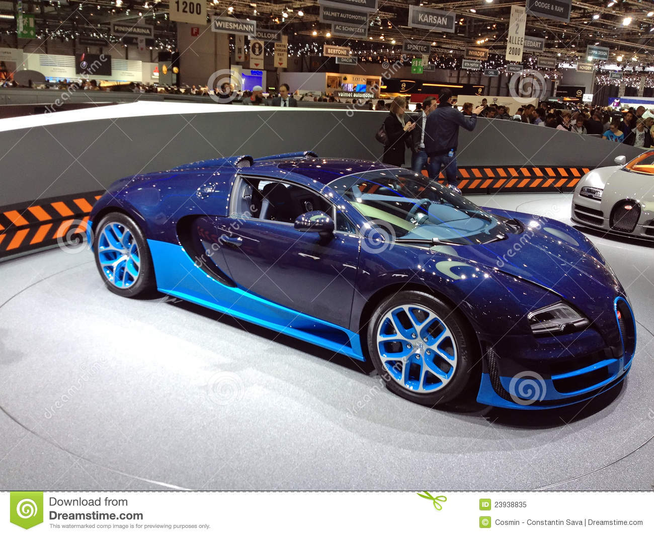 bugatti bleu veyron image ditorial image 23938835. Black Bedroom Furniture Sets. Home Design Ideas