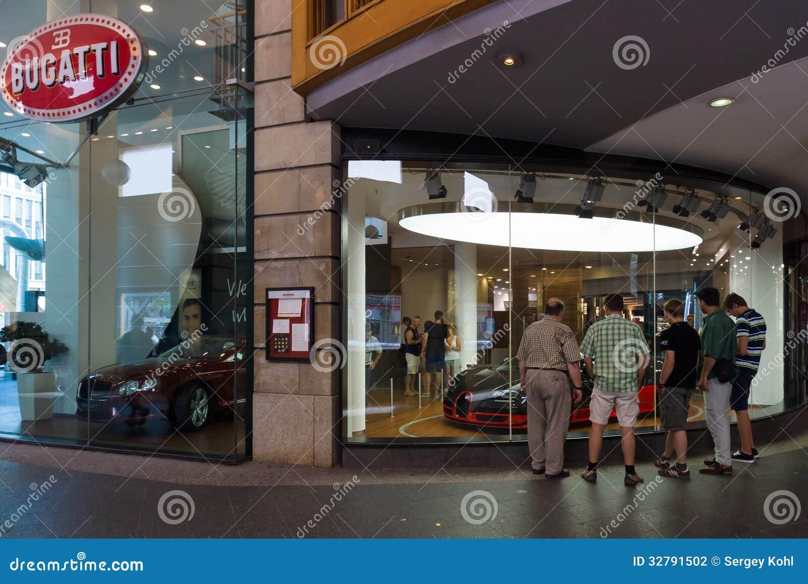 Bugatti Dealership On Friedrichstrasse Editorial