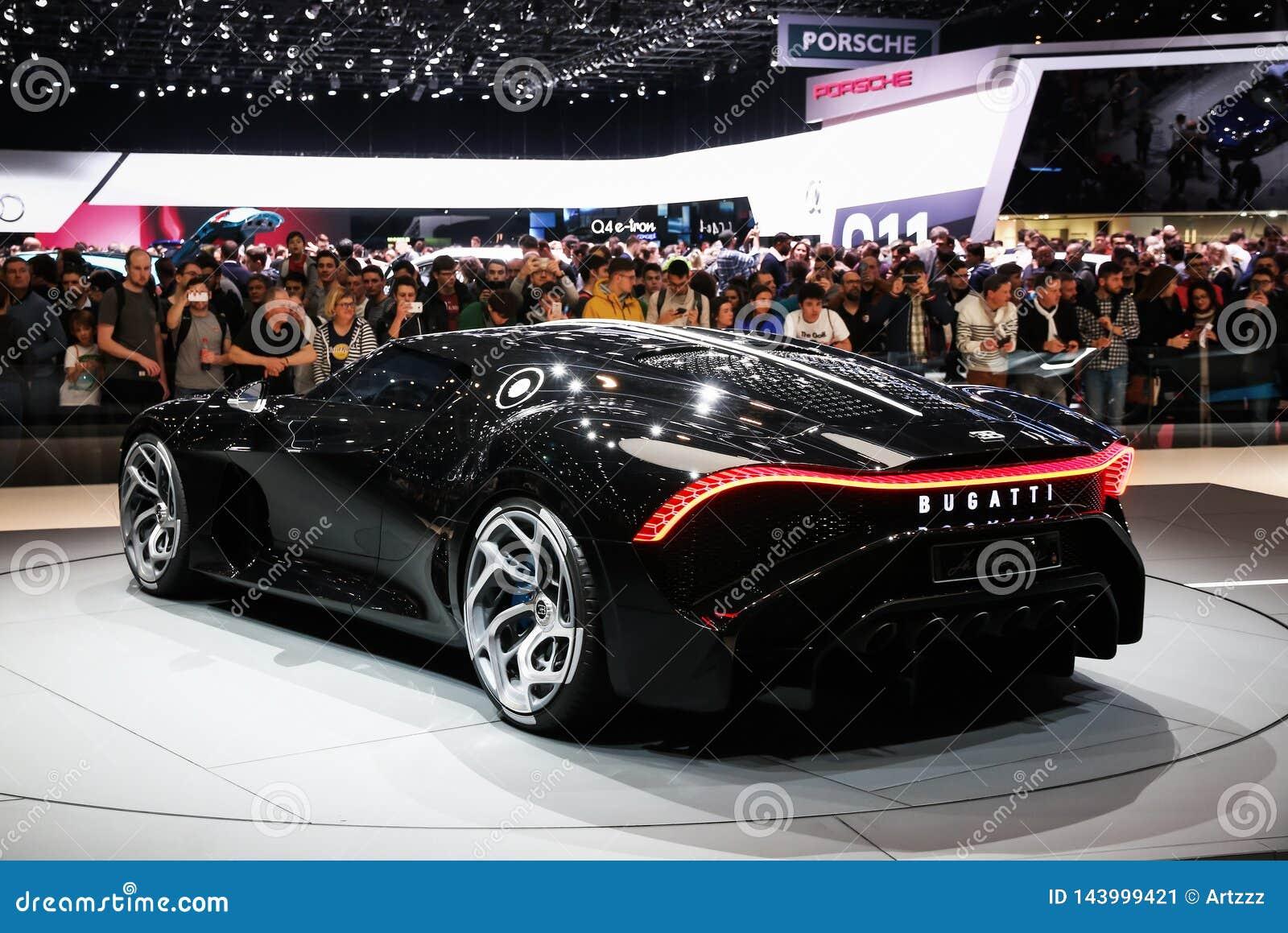 Bugatti La Voiture Noire Editorial Photo Image Of Back 143999421